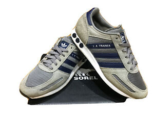 Mens Adidas LA Trainer Trainers Size 7 Grey Good Condition