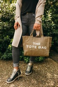 The Tote Bag Marc Jacobs Small Traveler Canvas Slate Green Khaki Tan Olive Strap