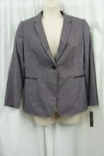 Tahari ASL Blazer Petite Sz 12P Purple Grey Black AILEEN Career Suit Jacket