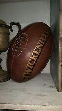 Une grande taille vintage en cuir 'Twickenham' Ballon de Rugby