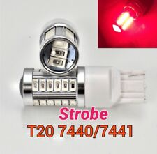 Strobe Flash T20 7440 W21W 992 SMD Red LED Bulb Rear Turn Signal Light M1 BC MAR