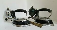 lot of 2 - vintage COLEMAN Iron : Model : 609A - SEE PICTURES! - FREE SHIP