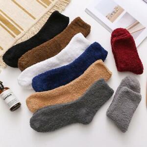 Women Men Soft Winter Warm Fluffy Fleece Socks Lounge/Bed Sock Gift hot.