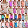 Plus Size Women's Sleeveless Summer Tie-dye Tank Tops Loose T Shirts Tops Blouse