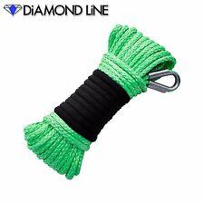 "50' x 3/16"" GREEN Synthetic Diamond Braid Rope Line ATV UTV Winch Cable"