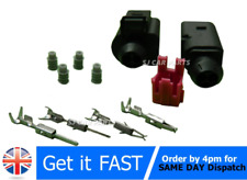 Para Audi VW 2 Pin Enchufe Conector Impermeable Kit 1J0 973 802 + 1J0973702