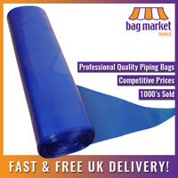 "100 x Ex-Large 21"" Blue Disposable Piping Bags on a Roll 