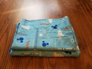 DISNEY MICKEY MOUSE CRIB/TODDLER BED SHEET SET-ROCKET SHIP-BLUE