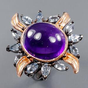 Vintage SET Amethyst Ring Silver 925 Sterling  Size 7.75 /R163646