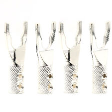 8pcs pure Copper silver plated Y Spade Plug Speaker Cable Wire Connector