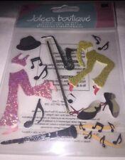 Jolees Jazz Dancing Tap Theater Performance Musical Instrument Scrapbook Sticker