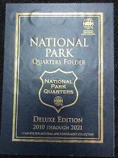NATIONAL PARK QUARTERS FOLDER 2010-2021 P & D WHITMAN FOLDER MINT COLLECTION