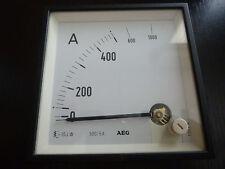 AEG Amperemeter 0-1000 A analog Messgerät Einbaumessgerät