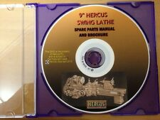 "HERCUS DVD FOR SPARE PARTS BOOK 9"" VEE BED LATHE INC METRIC MODELS"