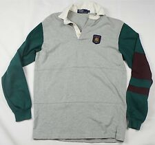 5a7cb498 Rare Vintage POLO BY RALPH LAUREN RL Wing Embroidered Patch Rugby Shirt 90s  SZ M