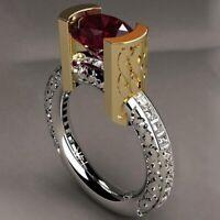 Neu Mode Rote Steine Vintage Kristall Zirkonia Ring Schöne Modisch eoHpr flYfE