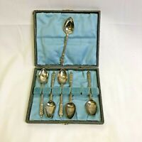 Vintage Set Of 6 EPNS Silver Plated Teaspoons in Original Fitted Case/Box