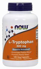 Now Foods L-Tryptophan, Sleep Aid, 500 mg, 120 Veg Capsules