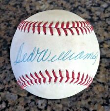 TED WILLIAMS, Boston Red Sox, single signed baseball w/ PSA LOA