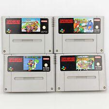 Snes - 4x Mario Spiele Für Super Nintendo