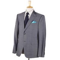 NWT $1595 Z ZEGNA Light Gray Woven Wool-Silk Suit 40 S 'Drop 7' Model