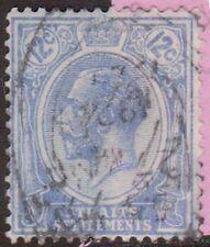 (H1-118) 1912 Straits settlement 12c blue Kgv