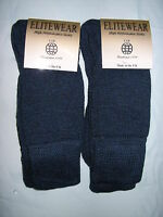 MENS HEAVY DUTY WOOL HIKING WALKING WORKING BOOT SOCK 2 PAIR REINFORCED TOE/HEEL