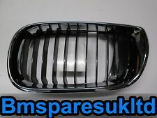 BMW E46 3 Series Saloon Passengers Black Fin Bonnet Kidney Grill 2001 - 2005 NEW
