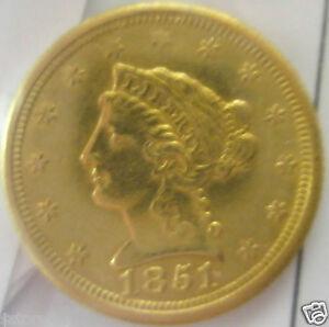 1851-O $2 1/2 Quarter Eagle Gold Liberty Head KEY DATE