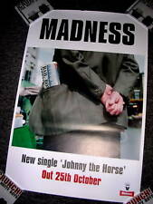 MADNESS - JOHNNY THE HORSE - RARE PROMOTIONAL POSTER - SUGGS STIFF SKA TWO TONE