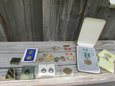 Vintage Military Medals Pins Patch Coin Lot