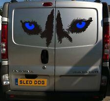 100CM SIBERIAN HUSKY EYES DECAL SLED DOGS HUSKIES DOG SIBE CAR VAN DECAL STICKER