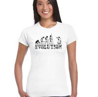 Fotografía EVOLUTION Mujer Camiseta Graciosa de fotógrafo Lentes Bolso Trípode