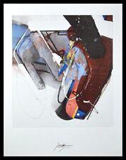 Robert Zielasco Abstract Poster Bild Kunstdruck im Alu Rahmen in schwarz 71x56cm