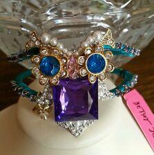 Betsey Johnson two tone hinged owl bracelet