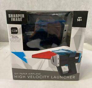 Sharper Image DIY Paper Airplane High Velocity Launcher MOTORIZED LAUNCHER