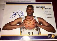 Thaddeus Young #21 Chicago Bulls NBA auto autograph 8X10 basketball photo + COA