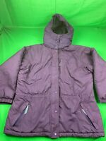 PATAGONIA REMOVABLE HOOD INSULATED JACKET COAT PURPLE SIZE WOMENS LARGE EUC!