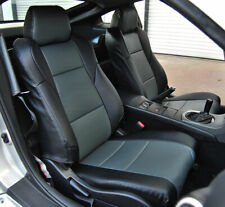 NISSAN 350Z 2003-2006 BLACK/CHARCOAL IGGEE S.LEATHER CUSTOM MADE FIT SEAT COVERS