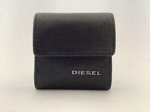 New Men's Diesel 'Kopper' Small Black Goat Leather Coin Purse
