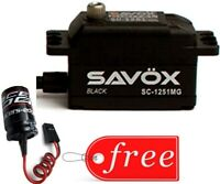 Savox SC1251MG-BE Black Edition Low Profile Digital Servo + FREE Glitch Buster