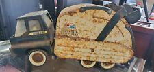 Vintage Pressed Steel Structo Sanitation Dept Garbage Truck Hydraulic Dump