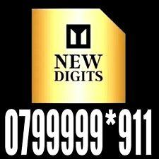 GOLD RARE MEMORABLE EASY TO REMEMBER MOBILE PHONE NUMBER SIM CARD PLATINUM VIP