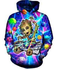 New Fashion Women/Men DJ Groot 3D Print Casual Hoodie Jacket Sweatshirt 421