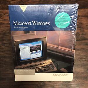 "Microsoft Windows 3.0 New Big Box Sealed 3.5"" Version NEW NOS Vintage"