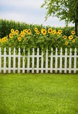 6.5x10ft Sunflower Photography Background Yard Fence Photo Backdrops Prop Scene