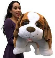 Giant Stuffed Dog Pillow Plush, 40 Inch Extra Huge Saint Bernard, Very Soft, New