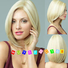 New Fashion sexy ladies short Blonde Natural Hair wigs / Free wig cap
