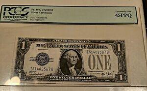 1928B Silver Certificate Funnyback 45ppq Pcgs