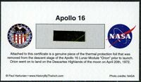 Own a Genuine Piece of Apollo 16 Kapton Thermal Protection Foil - For Just $9.95